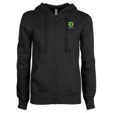 ENZA Ladies Black Fleece Full Zip Hoodie-Truck Pro