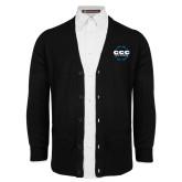Black V Neck Cardigan w/Pockets-CCC Parts Company