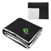 Super Soft Luxurious Black Sherpa Throw Blanket-Truck Pro