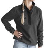 Ladies DRI DUCK Aspen Charcoal Fleece Pullover-Truck Pro Wordmark