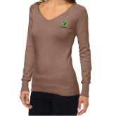 Ladies Fuse Mocha V Neck Sweater-Truck Pro