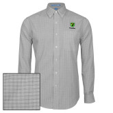 Mens Charcoal Plaid Pattern Long Sleeve Shirt-Truck Pro