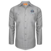 Red Kap Light Grey Long Sleeve Industrial Work Shirt-CCC Parts Company