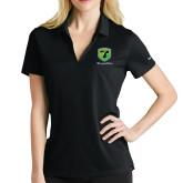Ladies Nike Golf Dri Fit Black Micro Pique Polo-Truck Pro