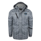 Grey Brushstroke Print Insulated Jacket-CCC Parts Company