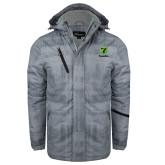 Grey Brushstroke Print Insulated Jacket-Truck Pro