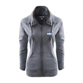 Ladies Sport Wick Stretch Full Zip Charcoal Jacket-CCC Parts Company