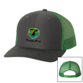 Richardson Charcoal/Kelly Trucker Hat-Truck Pro
