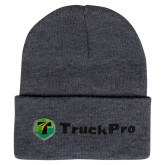 Grey Knit Beanie w/Cuff-Truck Pro
