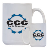 Full Color White Mug 15oz-CCC Parts Company