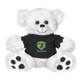 Plush Big Paw 8 1/2 inch White Bear w/Black Shirt-Truck Pro