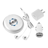 3 in 1 White Audio Travel Kit-CCC Parts Company