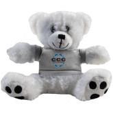 Plush Big Paw 8 1/2 inch White Bear w/Grey Shirt-CCC Parts Company