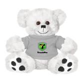 Plush Big Paw 8 1/2 inch White Bear w/Grey Shirt-Truck Pro