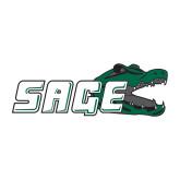 Medium Decal-Sage w/Gator Head, 8in Wide