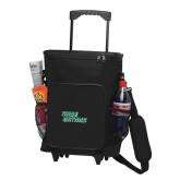 30 Can Black Rolling Cooler Bag-Sage Gators Wordmark