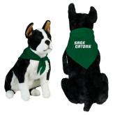 Dark Green Pet Bandana-Sage Gators Wordmark
