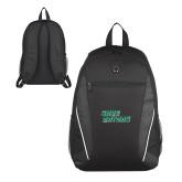 Atlas Black Computer Backpack-Sage Gators Wordmark