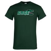 Dark Green T Shirt-Sage w/Gator Head