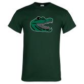 Dark Green T Shirt-Gator Head