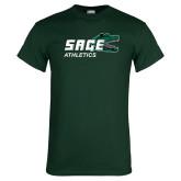 Dark Green T Shirt-Athletics