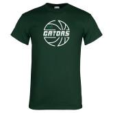 Dark Green T Shirt-Basketball in Ball