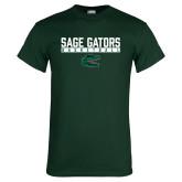 Dark Green T Shirt-Basketball in Bar