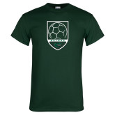 Dark Green T Shirt-Soccer Shield