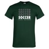 Dark Green T Shirt-Soccer Repeating