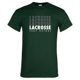 Dark Green T Shirt-Lacrosse Repeating