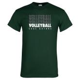 Dark Green T Shirt-Volleyball Repeating
