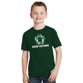 Youth Dark Green T Shirt-Distressed Soccer Ball