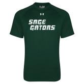Under Armour Dark Green Tech Tee-Sage Gators Wordmark