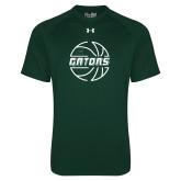 Under Armour Dark Green Tech Tee-Basketball in Ball