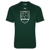 Under Armour Dark Green Tech Tee-Soccer Shield