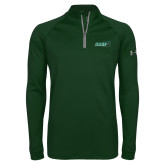 Under Armour Dark Green Tech 1/4 Zip Performance Shirt-Sage w/Gator Head