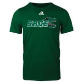 Adidas Dark Green Logo T Shirt-Sage w/Gator Head