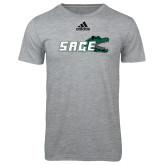 Adidas Sport Grey Logo T Shirt-Sage w/Gator Head