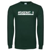 Dark Green Long Sleeve T Shirt-Sage Nation
