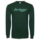 Dark Green Long Sleeve T Shirt-The Swamp