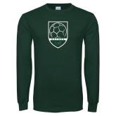 Dark Green Long Sleeve T Shirt-Soccer Shield