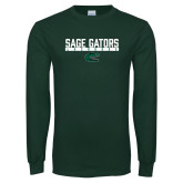 Dark Green Long Sleeve T Shirt-Lacrosse in Bar