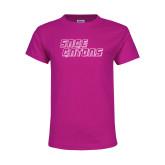Youth Cyber Pink T Shirt-Sage Gators Wordmark
