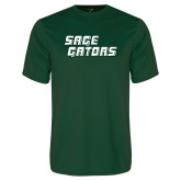 Performance Dark Green Tee-Sage Gators Wordmark