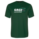 Performance Dark Green Tee-Lacrosse