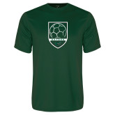 Performance Dark Green Tee-Soccer Shield