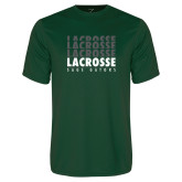 Performance Dark Green Tee-Lacrosse Repeating