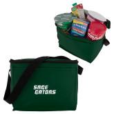 Six Pack Dark Green Cooler-Sage Gators Wordmark