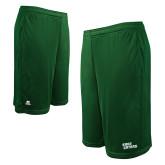 Russell Performance Dark Green 10 Inch Short w/Pockets-Sage Gators Wordmark
