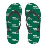 Full Color Flip Flops-Sage Gators Wordmark